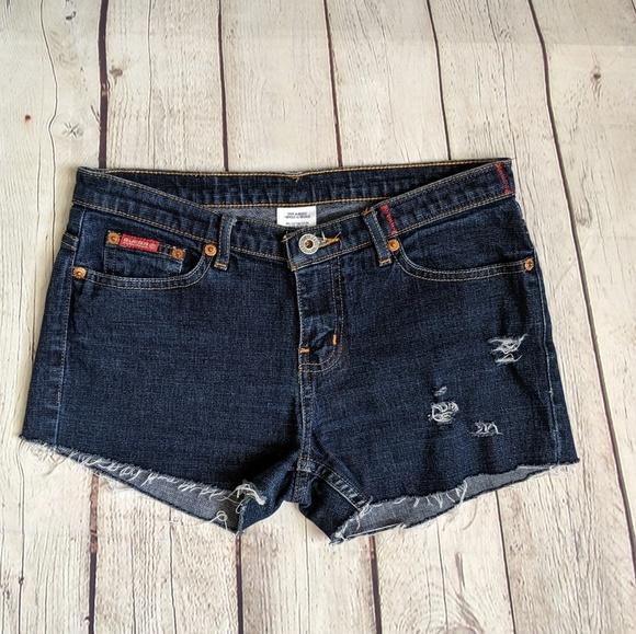 Guess Pants - Guess Dark Blue Cutoff Jean Shorts